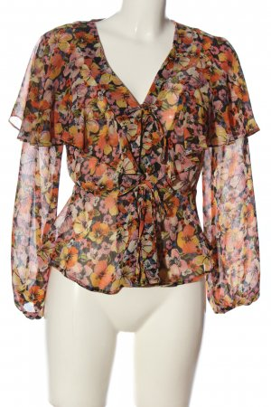 Topshop Langarm-Bluse Allover-Druck Casual-Look