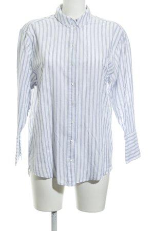 Topshop Langarm-Bluse blau-weiß Casual-Look