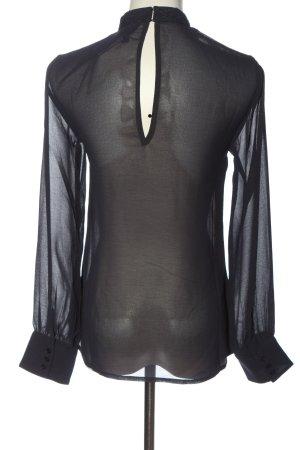 Topshop Langarm-Bluse schwarz klassischer Stil