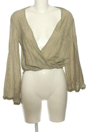 Topshop Langarm-Bluse khaki Casual-Look