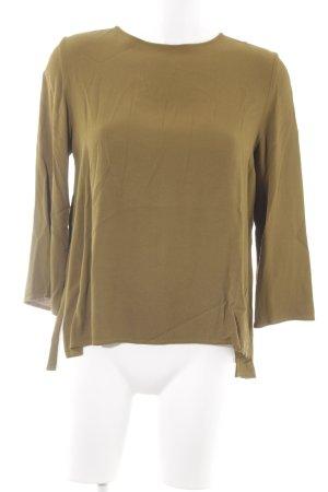 Topshop Langarm-Bluse grasgrün Business-Look