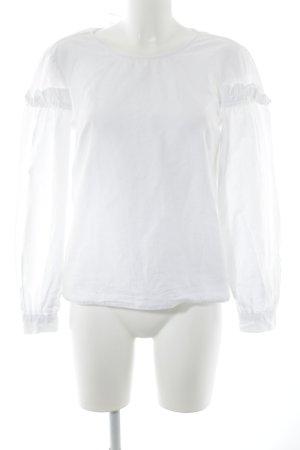 Topshop Langarm-Bluse weiß