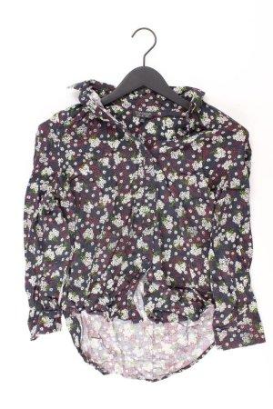 Topshop Langarmbluse Größe 34 grau aus Viskose