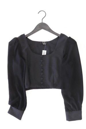 Topshop Langarmbluse Größe 36 schwarz aus Polyester