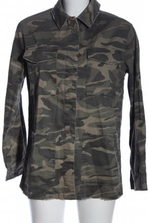Topshop Langarmhemd khaki Camouflagemuster Casual-Look