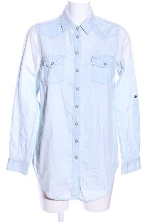 Topshop Langarmhemd blau Casual-Look
