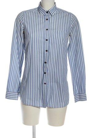 Topshop Langarmhemd blau-weiß Streifenmuster Business-Look