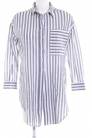 Topshop Langarmhemd weiß-dunkelgrau Streifenmuster Business-Look