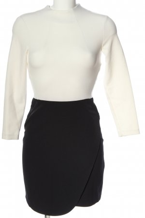 Topshop Langarmkleid weiß-schwarz Casual-Look