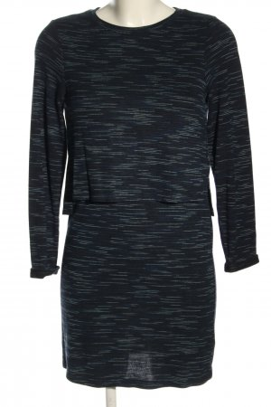 Topshop Longsleeve Dress blue flecked casual look