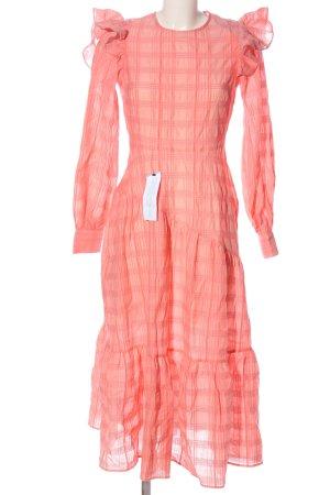 Topshop Langarmkleid pink Karomuster Casual-Look