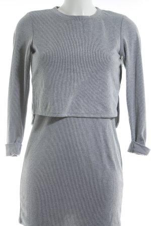 Topshop Langarmkleid weiß-schwarz Streifenmuster Street-Fashion-Look