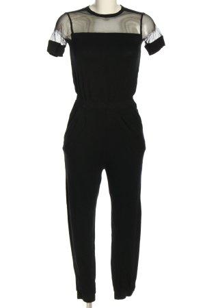 Topshop Langer Jumpsuit schwarz Casual-Look