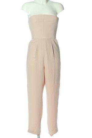 Topshop Langer Jumpsuit crema elegante