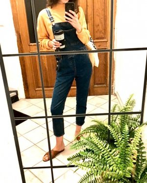 Topshop Latzjeans Blogger Cosy French Streat Style Slim High Waist Relaxed