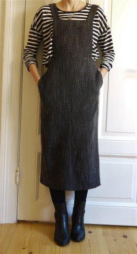 Topshop Vestido a media pierna gris antracita