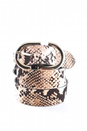 Topshop Leather Belt black-natural white animal pattern extravagant style
