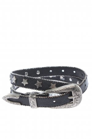 Topshop Faux Leather Belt black casual look