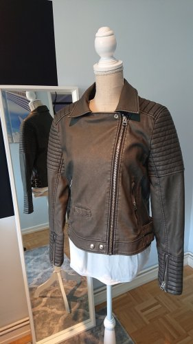 Topshop Leather Jacket grey
