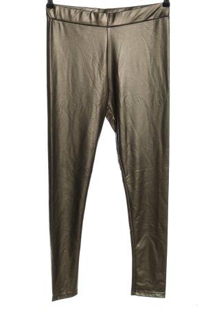 Topshop Leggings bronzefarben Glanz-Optik