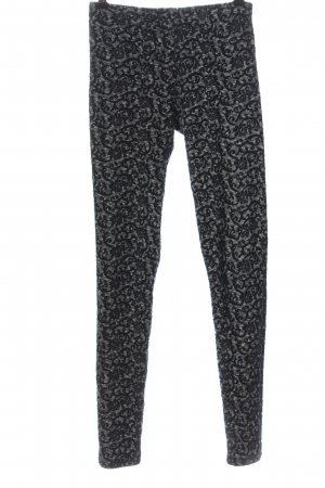 Topshop Leggings hellgrau-schwarz Casual-Look