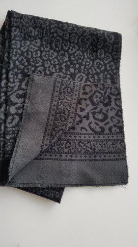Topshop Leo Animal Schal schwarz grau