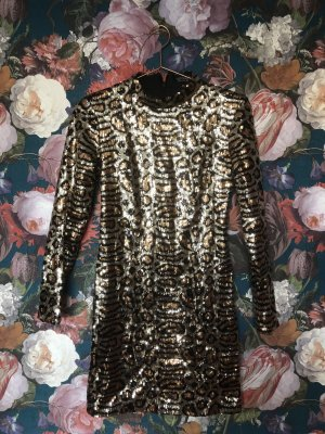 Topshop Leopard Pailletten Mini Dress