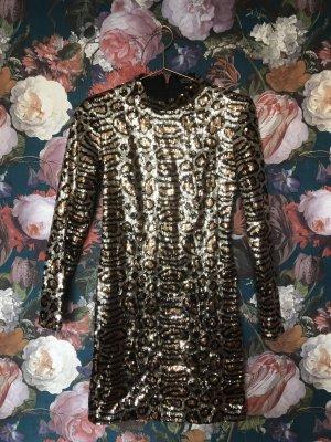 Topshop Leopard Pailletten Mini Dress
