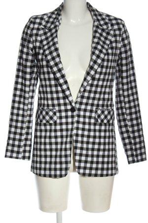 Topshop Long-Blazer schwarz-weiß Allover-Druck Elegant