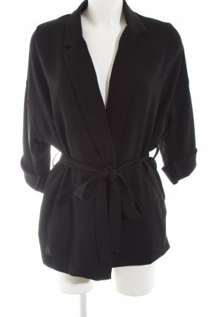 Topshop Long-Blazer schwarz Business-Look