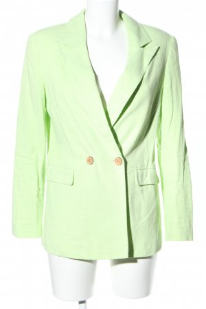 Topshop Long-Blazer grün Casual-Look