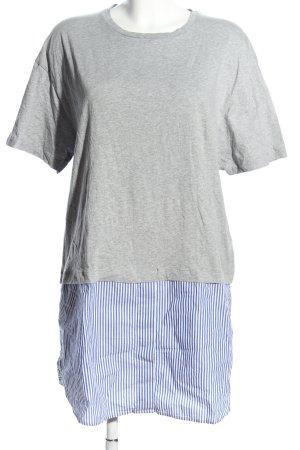 Topshop Longshirt hellgrau-blau meliert Casual-Look