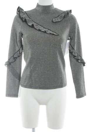 Topshop Longshirt silberfarben extravaganter Stil