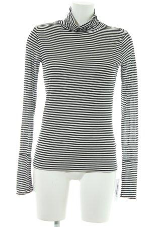 Topshop Longsleeve schwarz-weiß Streifenmuster Casual-Look