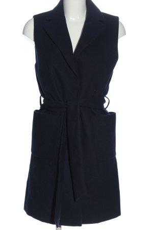 Topshop Longstrickweste blau Casual-Look