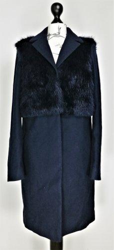 Topshop Abrigo de lana azul oscuro