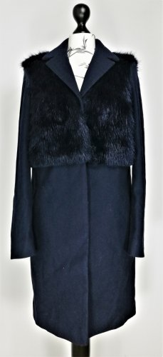 Topshop Manteau en laine bleu foncé
