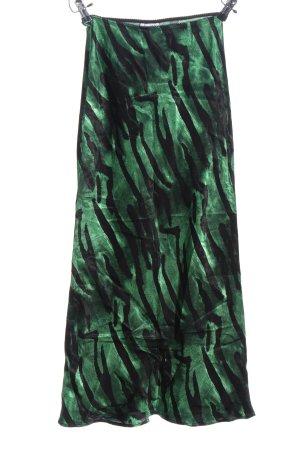 Topshop Maxirock grün-schwarz grafisches Muster Elegant