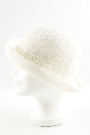 Topshop Chapeau melon blanc cassé style décontracté
