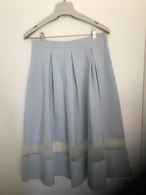 Topshop Spódnica midi błękitny Poliester