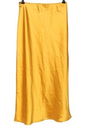 Topshop Falda midi naranja claro look casual