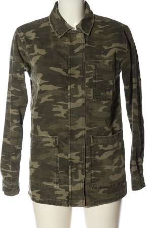 Topshop Military Jacket khaki camouflage pattern casual look