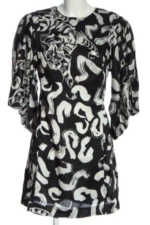 Topshop Minikleid schwarz-weiß abstraktes Muster Casual-Look