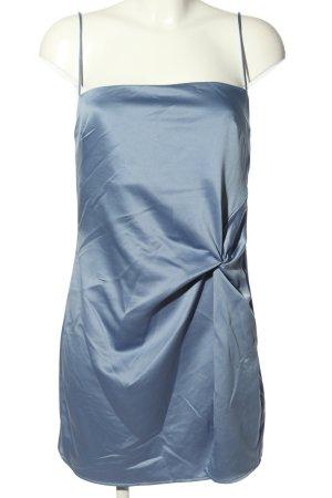 Topshop Minikleid blau Glanz-Optik