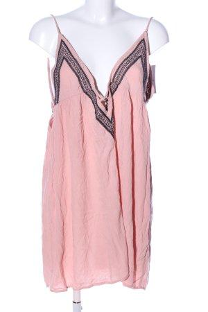 Topshop Minikleid pink-schwarz grafisches Muster Casual-Look