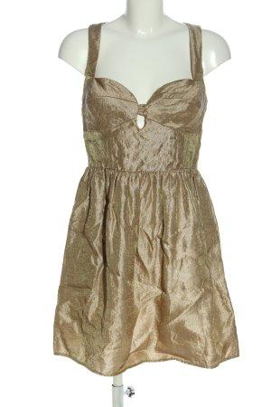 Topshop Minikleid goldfarben Elegant