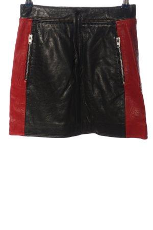 Topshop Minikleid schwarz-rot Casual-Look