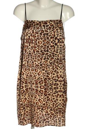 Topshop Minikleid braun-creme Animalmuster Casual-Look