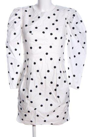 Topshop Minikleid weiß-schwarz Punktemuster Elegant