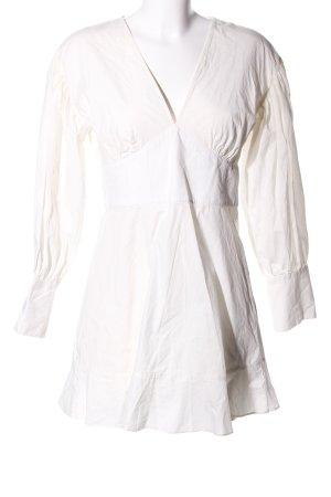 Topshop Robe courte blanc cassé style décontracté